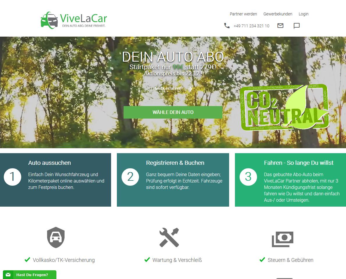 ViveLaCar homepage